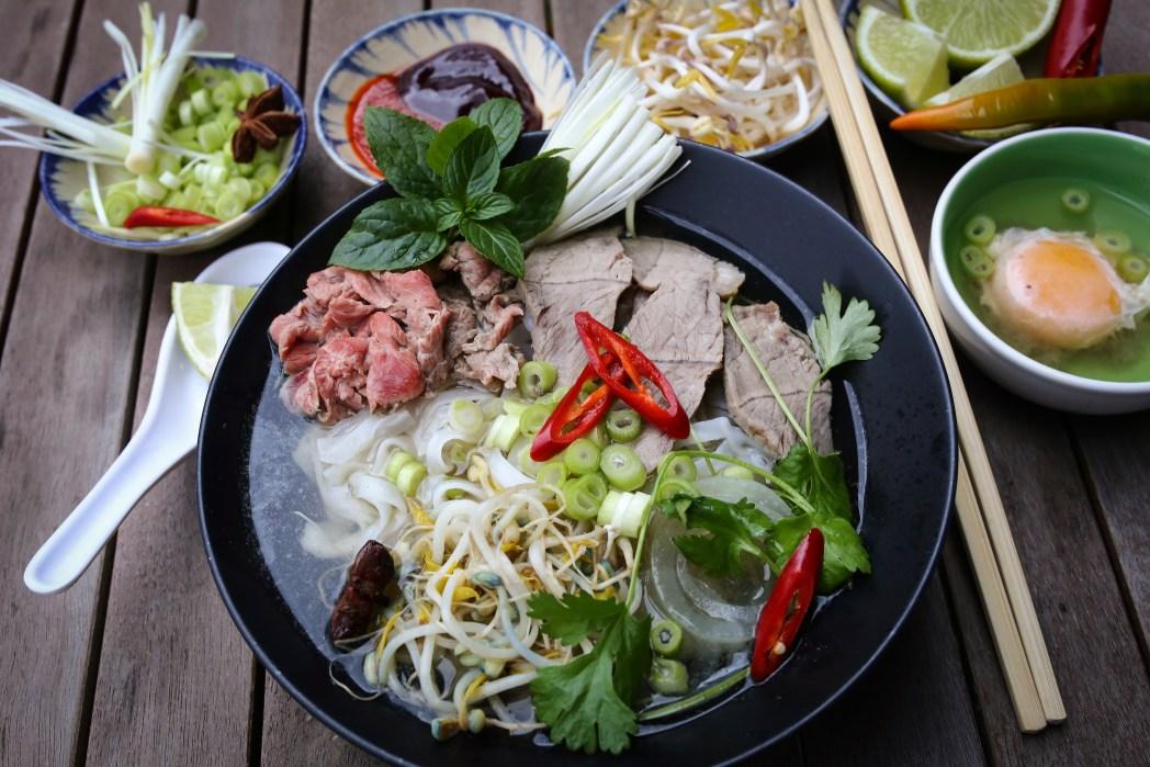 bowl of pho in vietnam